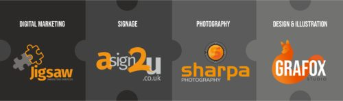 Jigsaw Marketing Services was established by Rod Jamieson in 1995 and since the conception Rod has built independent Companies for specific sectors in Signage, Photography, Digital Marketing and now daughter Ashleigh Jamieson leads design with her company Grafox