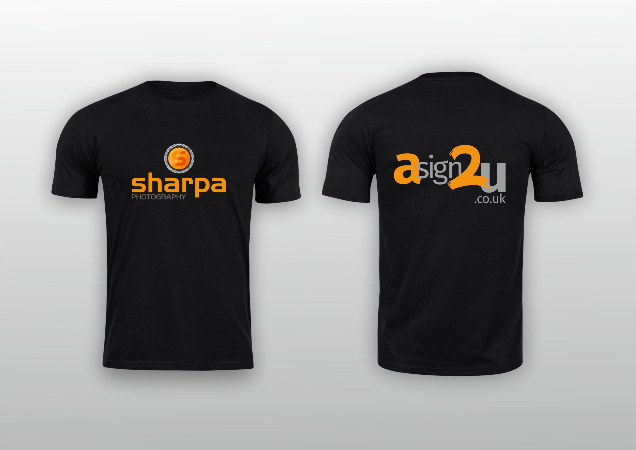 sharpa and asign2u t-shirt